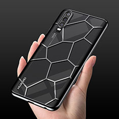Coque Ultra Fine TPU Souple Housse Etui Transparente S04 pour Huawei P30 Noir