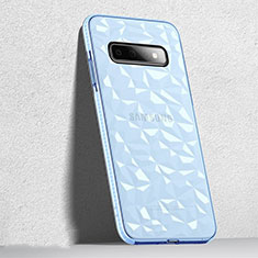 Coque Ultra Fine TPU Souple Housse Etui Transparente S04 pour Samsung Galaxy S10 Noir