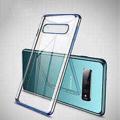 Coque Ultra Fine TPU Souple Housse Etui Transparente S04 pour Samsung Galaxy S10 Plus Bleu