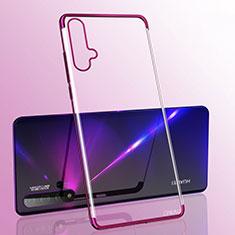 Coque Ultra Fine TPU Souple Housse Etui Transparente S05 pour Huawei Nova 5 Violet