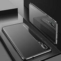 Coque Ultra Fine TPU Souple Housse Etui Transparente S05 pour Huawei P20 Pro Noir