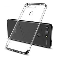 Coque Ultra Fine TPU Souple Housse Etui Transparente S06 pour Huawei Honor View 20 Noir