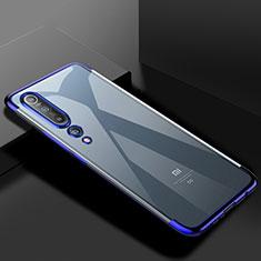 Coque Ultra Fine TPU Souple Housse Etui Transparente S2 pour Xiaomi Mi 10 Bleu