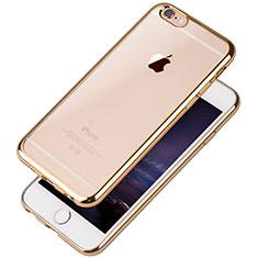 Coque Ultra Fine TPU Souple Housse Etui Transparente T08 pour Apple iPhone 6 Or