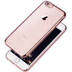 Coque Ultra Fine TPU Souple Housse Etui Transparente T08 pour Apple iPhone 6 Or Rose