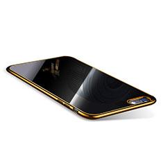 Coque Ultra Fine TPU Souple Housse Etui Transparente T08 pour Apple iPhone 6 Plus Or