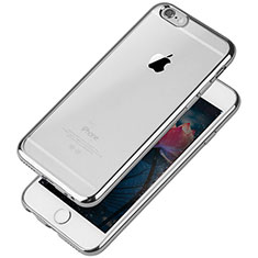 Coque Ultra Fine TPU Souple Housse Etui Transparente T08 pour Apple iPhone 6S Argent