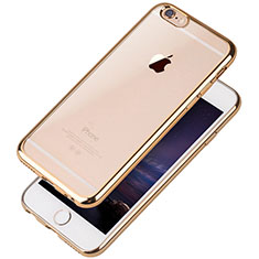 Coque Ultra Fine TPU Souple Housse Etui Transparente T08 pour Apple iPhone 6S Or