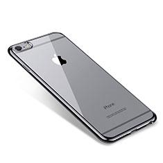 Coque Ultra Fine TPU Souple Housse Etui Transparente T09 pour Apple iPhone 6 Plus Noir