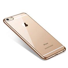 Coque Ultra Fine TPU Souple Housse Etui Transparente T09 pour Apple iPhone 6 Plus Or