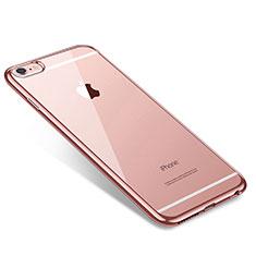 Coque Ultra Fine TPU Souple Housse Etui Transparente T09 pour Apple iPhone 6 Plus Or Rose