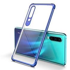 Coque Ultra Fine TPU Souple Housse Etui Transparente U01 pour Huawei P30 Bleu