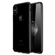 Coque Ultra Fine TPU Souple Housse Etui Transparente V02 pour Apple iPhone Xs Noir