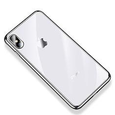 Coque Ultra Fine TPU Souple Housse Etui Transparente V03 pour Apple iPhone Xs Argent