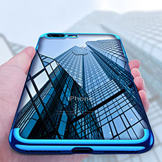 Coque Ultra Fine TPU Souple Transparente A04 pour Apple iPhone 8 Plus Bleu