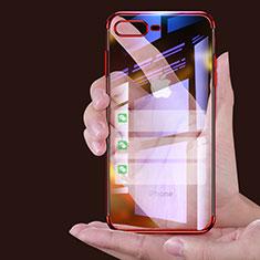Coque Ultra Fine TPU Souple Transparente A06 pour Apple iPhone 7 Plus Rouge