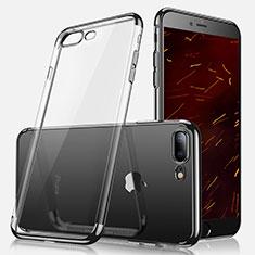 Coque Ultra Fine TPU Souple Transparente A07 pour Apple iPhone 7 Plus Noir