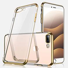 Coque Ultra Fine TPU Souple Transparente A07 pour Apple iPhone 7 Plus Or