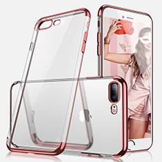 Coque Ultra Fine TPU Souple Transparente A07 pour Apple iPhone 7 Plus Or Rose