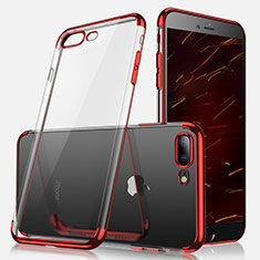 Coque Ultra Fine TPU Souple Transparente A07 pour Apple iPhone 8 Plus Rouge