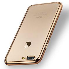 Coque Ultra Fine TPU Souple Transparente A08 pour Apple iPhone 7 Plus Or
