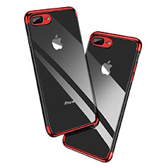 Coque Ultra Fine TPU Souple Transparente A12 pour Apple iPhone 7 Plus Rouge