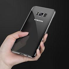 Coque Ultra Fine TPU Souple Transparente H09 pour Samsung Galaxy S8 Noir