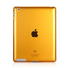 Coque Ultra Fine TPU Souple Transparente pour Apple iPad 4 Jaune