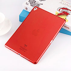 Coque Ultra Fine TPU Souple Transparente pour Apple iPad Pro 9.7 Rouge