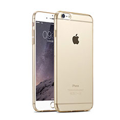 Coque Ultra Fine TPU Souple Transparente pour Apple iPhone 6 Plus Or