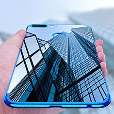 Coque Ultra Fine TPU Souple Transparente T02 pour Huawei Honor 9i Bleu