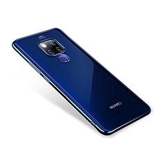 Coque Ultra Fine TPU Souple Transparente T02 pour Huawei Mate 20 Bleu