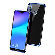 Coque Ultra Fine TPU Souple Transparente T02 pour Huawei Nova 3e Bleu