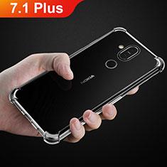 Coque Ultra Fine TPU Souple Transparente T02 pour Nokia 7.1 Plus Clair