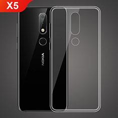 Coque Ultra Fine TPU Souple Transparente T02 pour Nokia X5 Clair