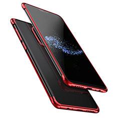 Coque Ultra Fine TPU Souple Transparente T02 pour OnePlus 6 Rouge