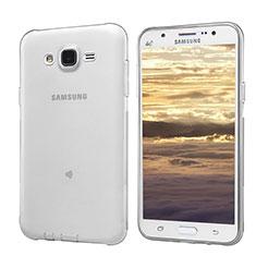 Coque Ultra Fine TPU Souple Transparente T02 pour Samsung Galaxy J5 SM-J500F Gris