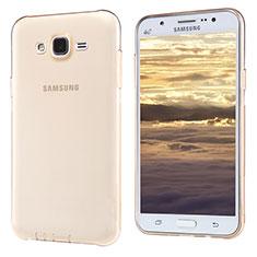 Coque Ultra Fine TPU Souple Transparente T02 pour Samsung Galaxy J5 SM-J500F Or