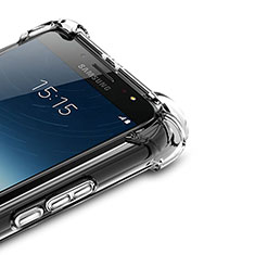 Coque Ultra Fine TPU Souple Transparente T02 pour Samsung Galaxy J7 Plus Clair