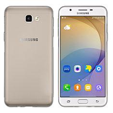 Coque Ultra Fine TPU Souple Transparente T02 pour Samsung Galaxy J7 Prime Gris