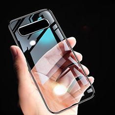 Coque Ultra Fine TPU Souple Transparente T02 pour Samsung Galaxy S10 Noir