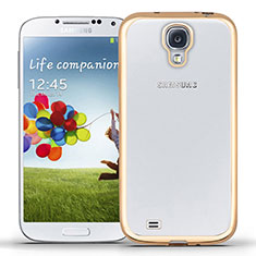 Coque Ultra Fine TPU Souple Transparente T02 pour Samsung Galaxy S4 i9500 i9505 Or