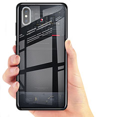 Coque Ultra Fine TPU Souple Transparente T02 pour Xiaomi Mi 8 Explorer Noir
