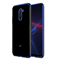 Coque Ultra Fine TPU Souple Transparente T02 pour Xiaomi Pocophone F1 Bleu