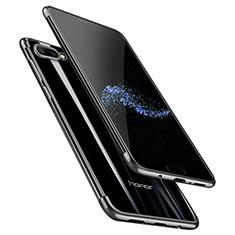 Coque Ultra Fine TPU Souple Transparente T06 pour Huawei Honor 10 Noir