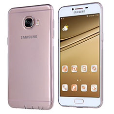 Coque Ultra Fine TPU Souple Transparente T06 pour Samsung Galaxy C5 SM-C5000 Gris