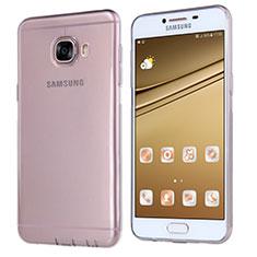 Coque Ultra Fine TPU Souple Transparente T06 pour Samsung Galaxy C7 SM-C7000 Gris