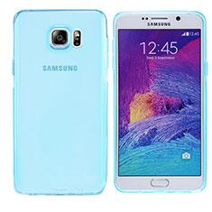 Coque Ultra Fine TPU Souple Transparente T06 pour Samsung Galaxy Note 5 N9200 N920 N920F Bleu