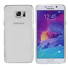Coque Ultra Fine TPU Souple Transparente T06 pour Samsung Galaxy Note 5 N9200 N920 N920F Gris