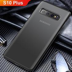 Coque Ultra Fine TPU Souple Transparente T06 pour Samsung Galaxy S10 Plus Noir